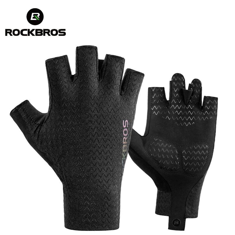 RockBros Cycling Half Finger Gloves Bike Gloves Shockproof Breathable Gloves