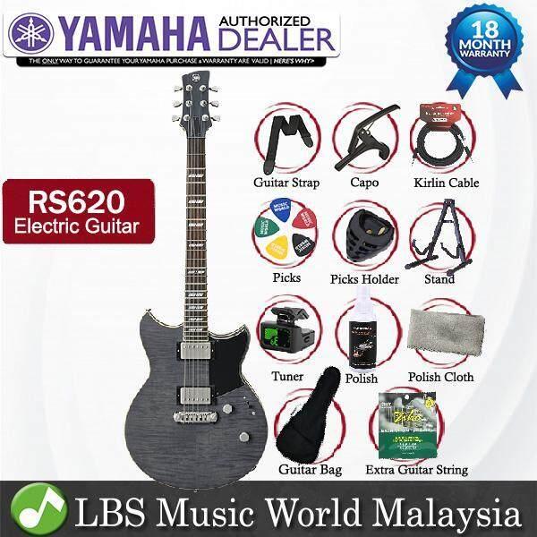 Yamaha RS620 Flame Maple Top HH Pickup Electric Guitar Burnt Charcoal with Gig Bag (RS 620) Malaysia