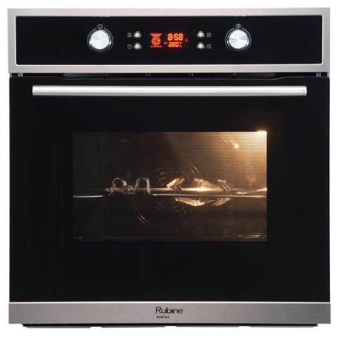 Rubine RBO-AVATA2-70SS 8F 70L Built-In Oven Glass Black 70L