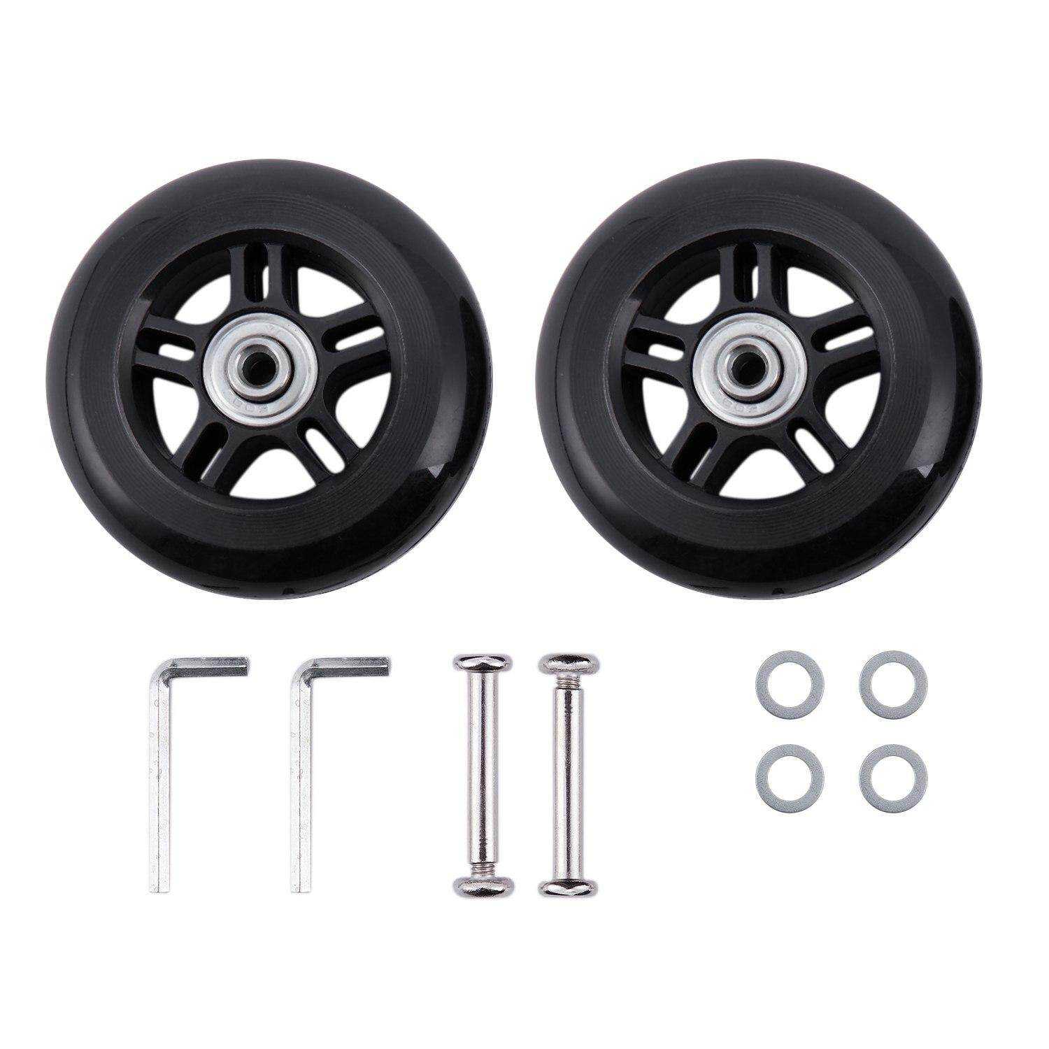 2 Set Luggage Suitcase Replacement Wheels Axles And Wrench Repair Set 84*24mm By Rainning.