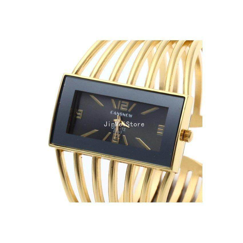 JinMeiStore Generic Alloy Band Ring Finger Watch Women Gold Malaysia