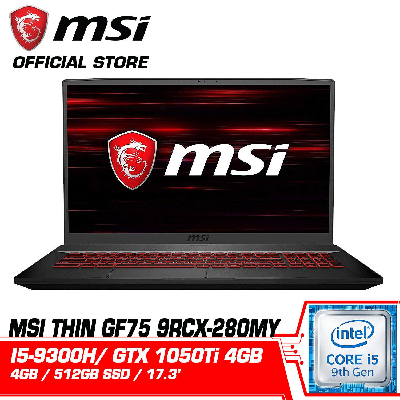 MSI GF75 9RCX 280MY (NVIDIA GeForce® GTX 1050 Ti) Malaysia
