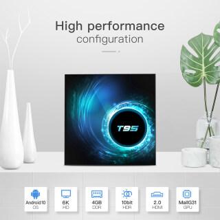 Wisdhome bộ TV Android 10.0 T95 H616-Hộp Trên Cùng Máy Nghe Nhạc Thông Minh HD 6K 2.4G + 5G + BT, TVBOX thumbnail