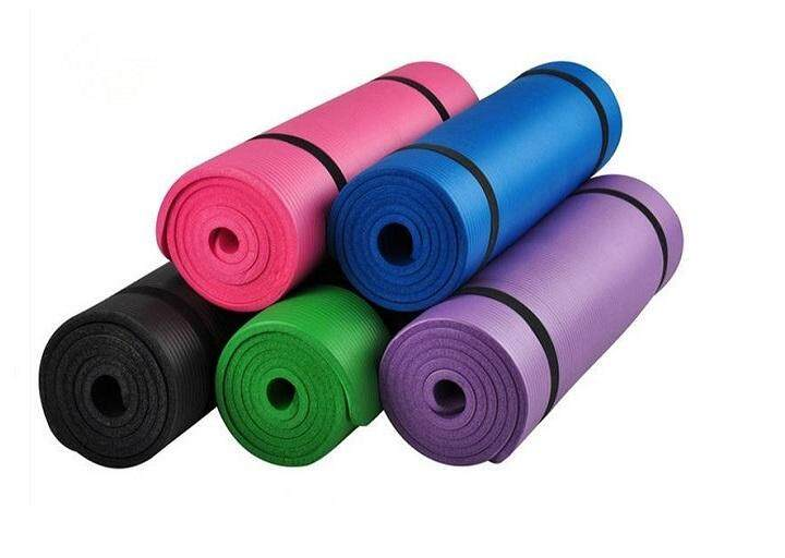 Yoga Mat 15mm Thick yogamat Exercise Fitness Physio Pilate Workout Non  Slip(random colour) 403dba10b