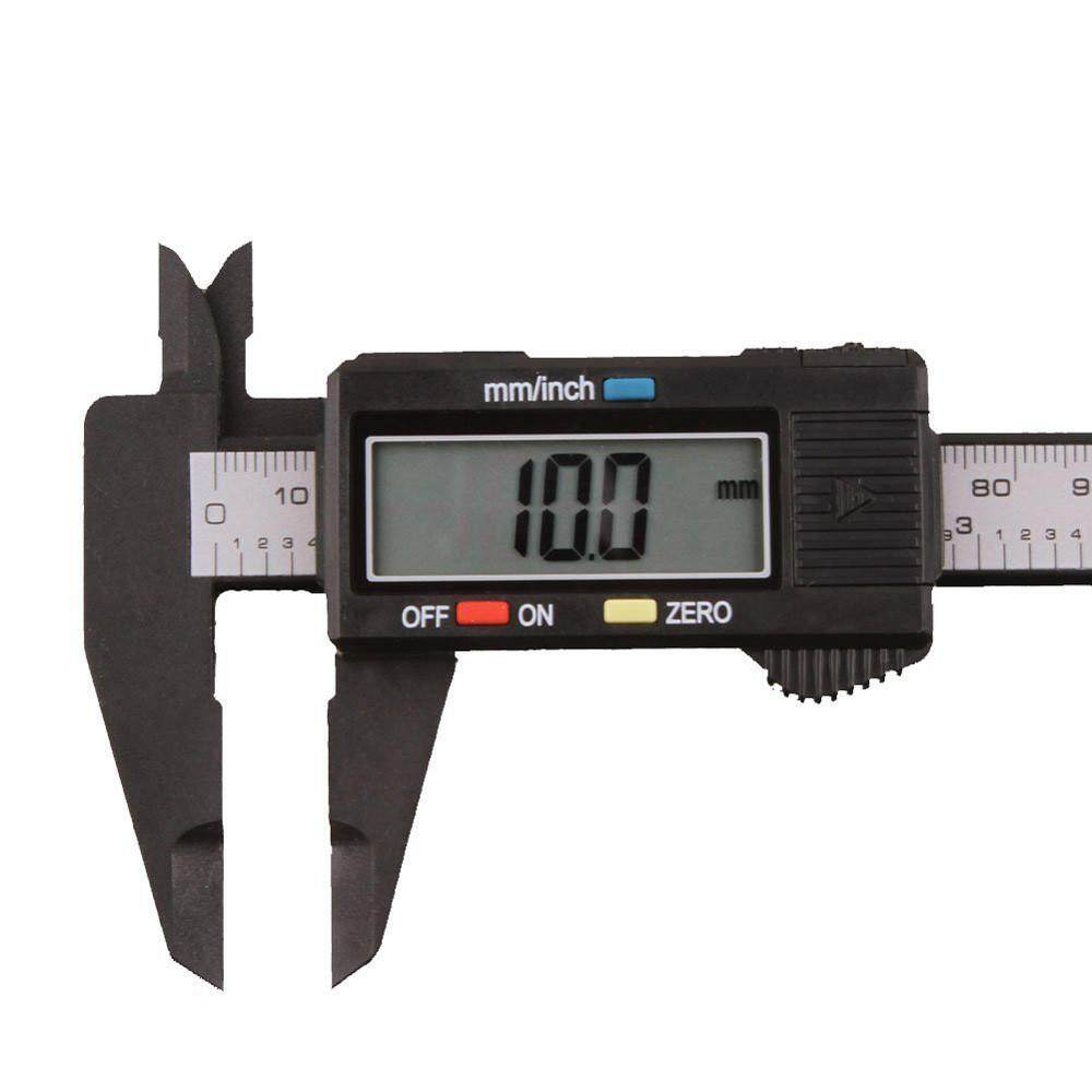 150mm / 6 inch LCD digital electronic carbon fiber vernier caliper measuring instrument, high precision digital display surface difference ruler high and low gauge step gauge