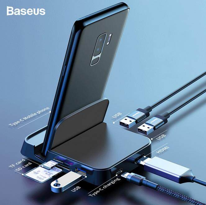 Charger For Baseus Usb Type C Hub Docking Station Pad Station Usb-C To Hdmi Dock Power Adapter For Huawei P30 P20 Pro For Samsung S10 S9.
