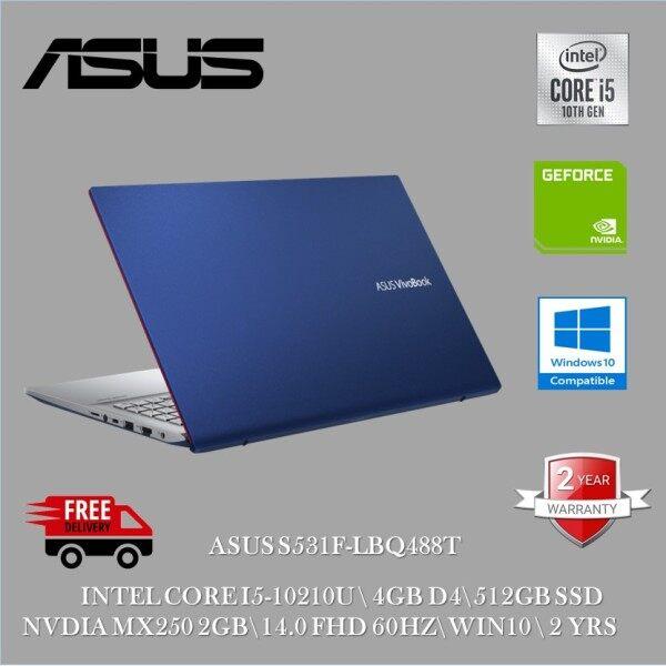 Asus Vivobook S15 S531F-LBQ488T 15.6 FHD Laptop Cobalt Blue ( I5-10210U, 4GB, 512GB+32GB, MX250 2GB, W10 ) Malaysia