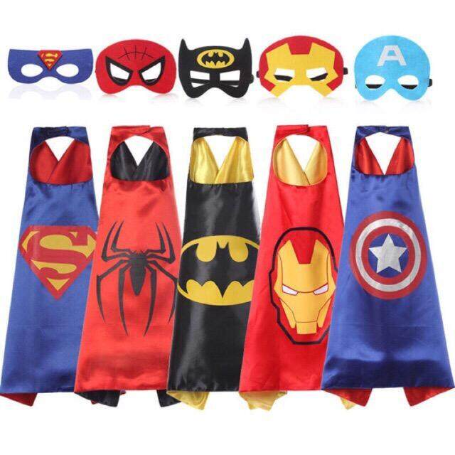 Kids Superhero Costume Cape Halloween Party toys for girls