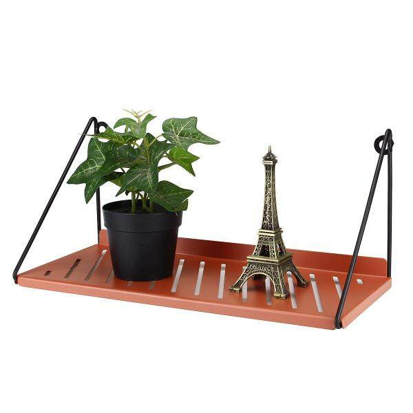 Iron Wall Mount Shelf Hanger Vintage Home Office Storage Book Shelves Plant Rack