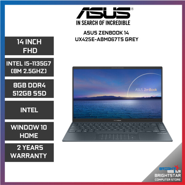 ASUS ZenBook UX425E Laptop (14 Inch FHD   Intel Core   I5-1135G7 (8M 2.5GHZ)   8GB RAM   Intel Graphic   Windows 10 + Microsoft Office Home & Student   2 Years Warranty) Malaysia