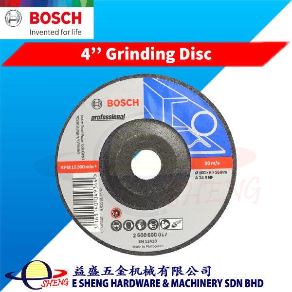 [Buy 10pcs FREE Safety Goggle] 1 pcs Bosch 4'' Grinding Disc (100 x 6 x 16mm) - 2608600017