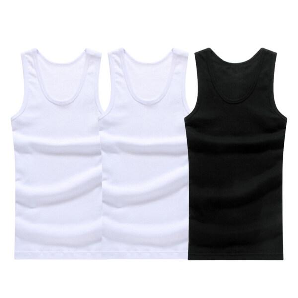 GMBI®3 Cái/bộ Người Đàn Ông Giản Dị Màu Rắn Mỏng Tập Thể Dục Tank Top Cộng Với Kích Thước Vest , Undershirts