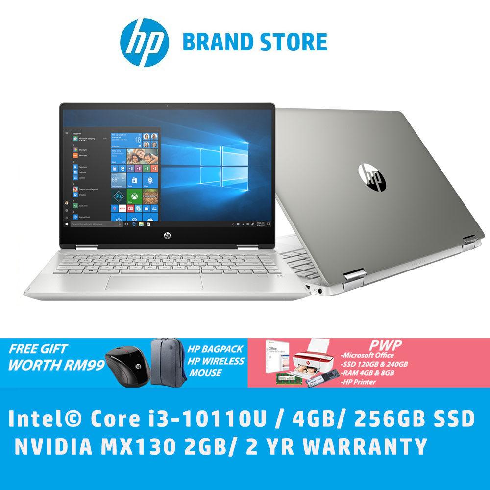 HP Pavilion x360 14-dh1010TX 14   FHD Touch Laptop Mineral Silver (i3-10110U, 4GB, 256GB SSD, MX130 2GB) Malaysia