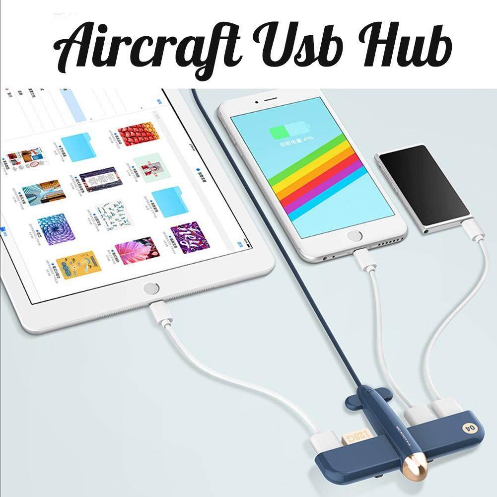 เครื่องบิน Usb Hub 1 ถึง 4 Usb สร้างสรรค์ชาร์จพอร์ตและข้อมูล By U-Deserve.th.