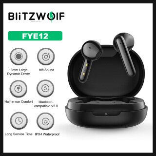 BW-FYE12 BlitzWolf Tai Nghe Không Dây TWS Tai Nghe Bluetooth V5.0 Cuộc Gọi HD Âm Thanh Nổi HiFi Tai Nghe Mini Cầm Tay Nửa Tai Điều Khiển Cảm Ứng-Màu Đen thumbnail