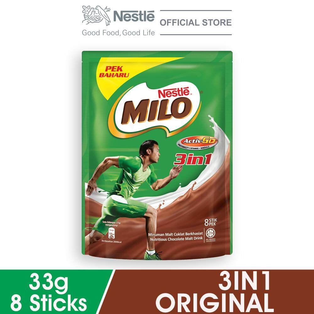 Nestle Milo 3in1 Activ-Go Chocolate Malt Powder 8 Sticks, 33g Per Stick By Lazada Retail Milo.