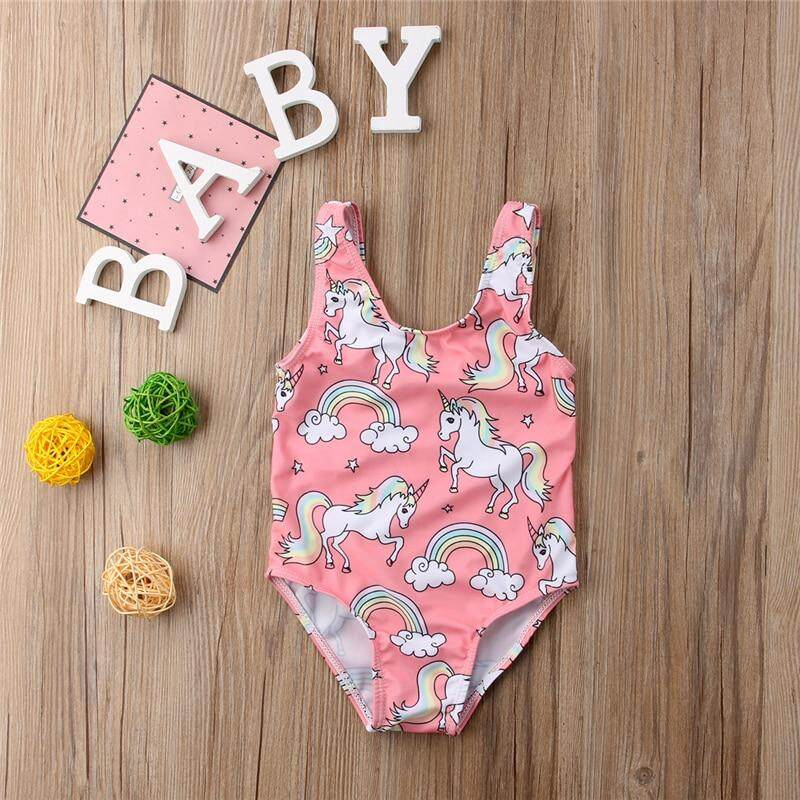 825b20c04d Unicorn One Piece Swimsuit Summer Newborn Toddler Baby Kids Girl Swimwear  Swimming Bikini Girls Bathing Suit