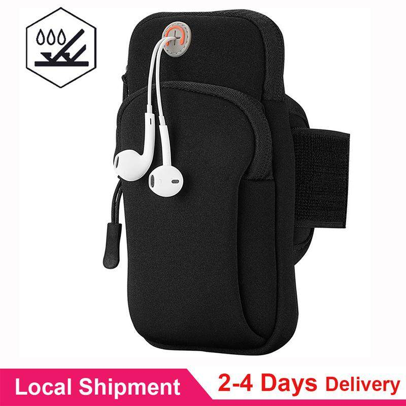 【waterproof】q-Shop Multifunctional Sports Armband, Men/women Running Bag Arm Bag Waist Pouch Armbag Neck Pouch Pack Bag For Running, Cycling, Hiking, Camping, Travel, Workout Black (suit For 4.7-5.5 Inches Phone) By Q-Shop.