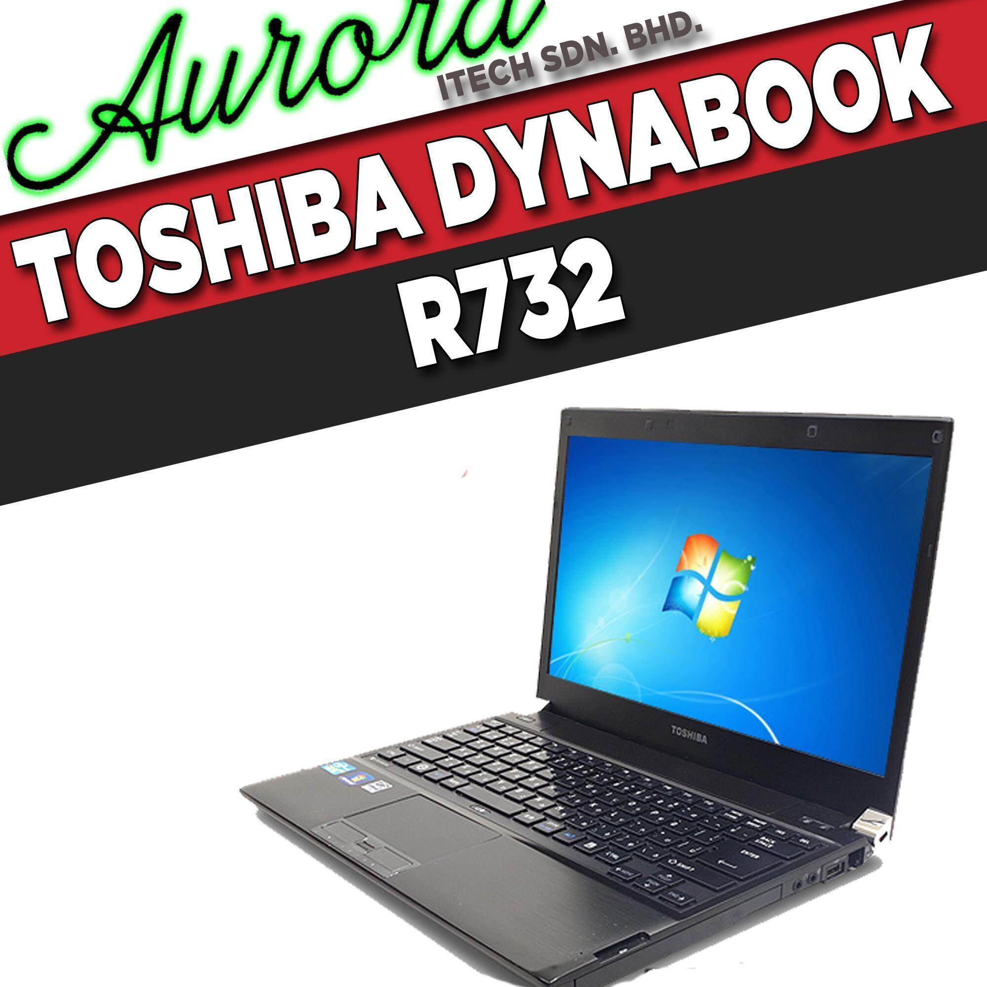 (REFURBISHED) TOSHIBA DYNABOOK R732/ I5-3RD GEN/ 4GB DDR3 RAM/ 320GB SATA HDD/ 13-INCH LCD/ 1 YEARWARRANTY, FREE MOUSE Malaysia