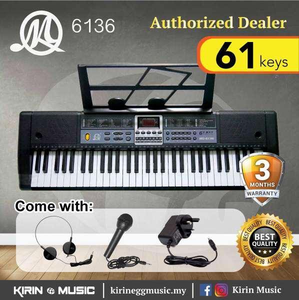 Keyboard Piano 61 keys MQ6136 (Kids Piano) Package with Headphone, Mic, Music Rest Malaysia