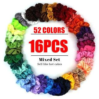 52 Màu Thời Trang Phụ Nữ Lụa Rắn Scrunchies Đàn Hồi Satin Hairbands Cô Gái Tóc Tie Tóc Dây Phụ Kiện Tóc (Màu Ngẫu Nhiên)-4 Cái 8 Cái 16 Cái thumbnail