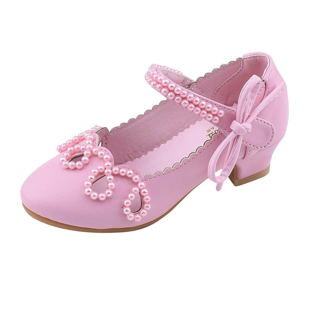 572b055d6bf CNB2C Toddler Kids Girls Pearl Square Heel Leather Shoes Single Princess  Shoes Sandals Fashion Baby Shoes