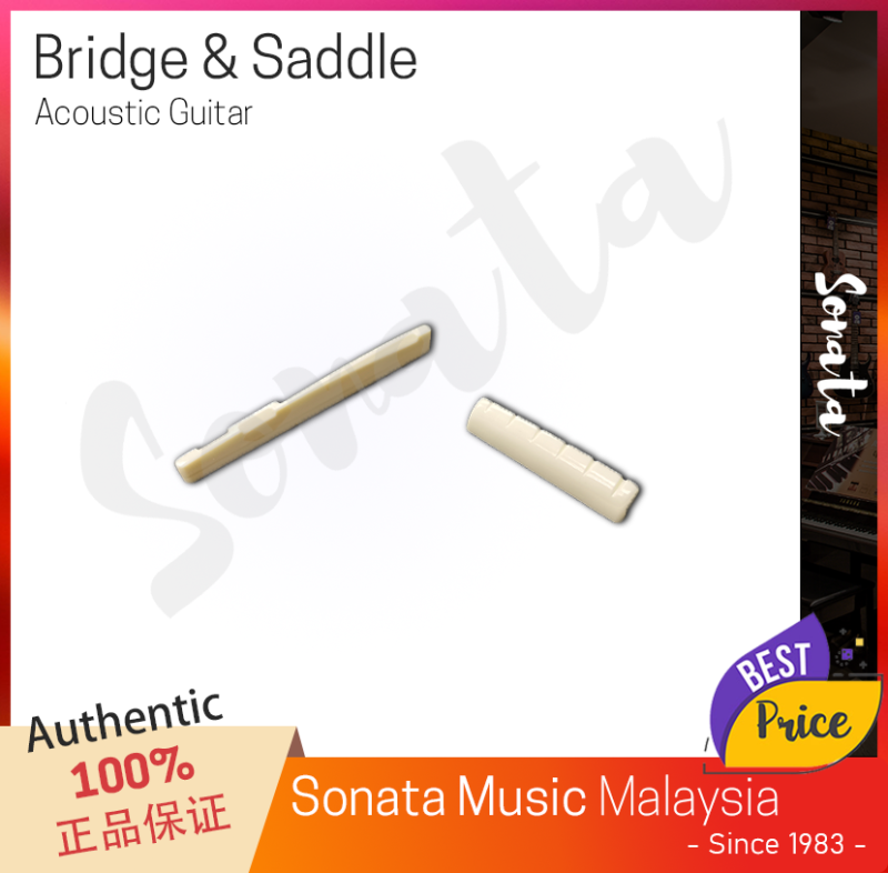 6 String Acoustic Guitar Bridge Saddle & Nut Malaysia