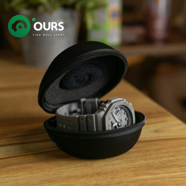 OURS Watch Travel Case - Portable Round Donut Shape Pocket Watch Pouch - Single Malaysia