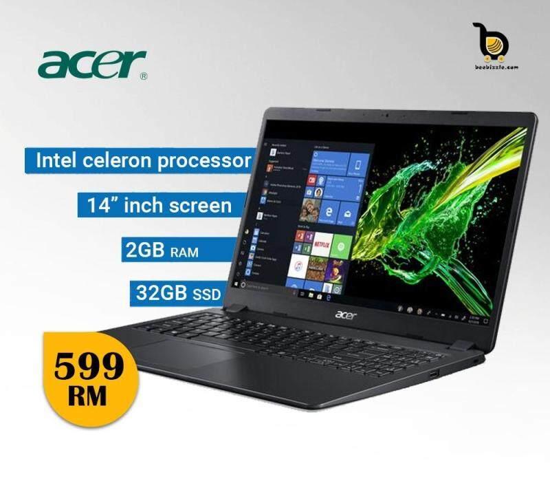Acer Aspire One Cloudbook 14, Intel® Celeron N3050 2GB DDR3 L Ram, 32GB SSD HDD, 14  HD LED, Intel® HD Graphics, Windows 10 Malaysia