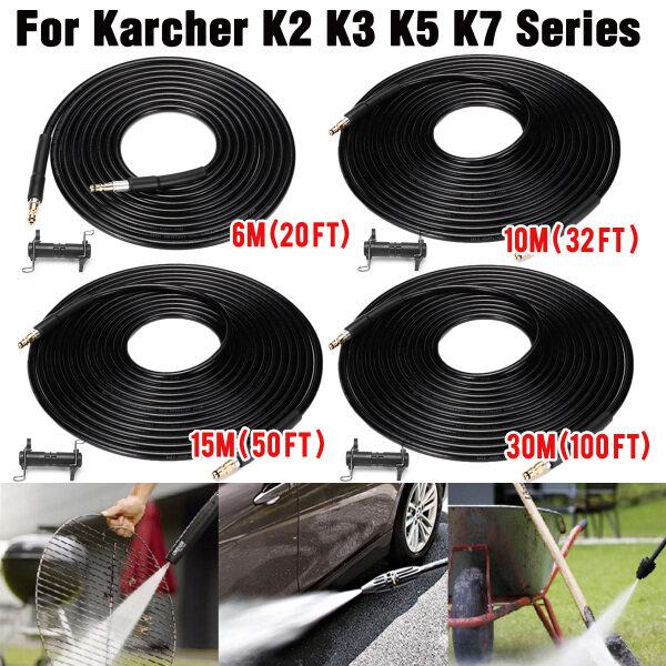 Ống Làm Sạch Máy Rửa Áp Lực Cao 5800PSI, 6/10/15/30M Dành Cho Dòng Karcher K2 K3 K5 K7