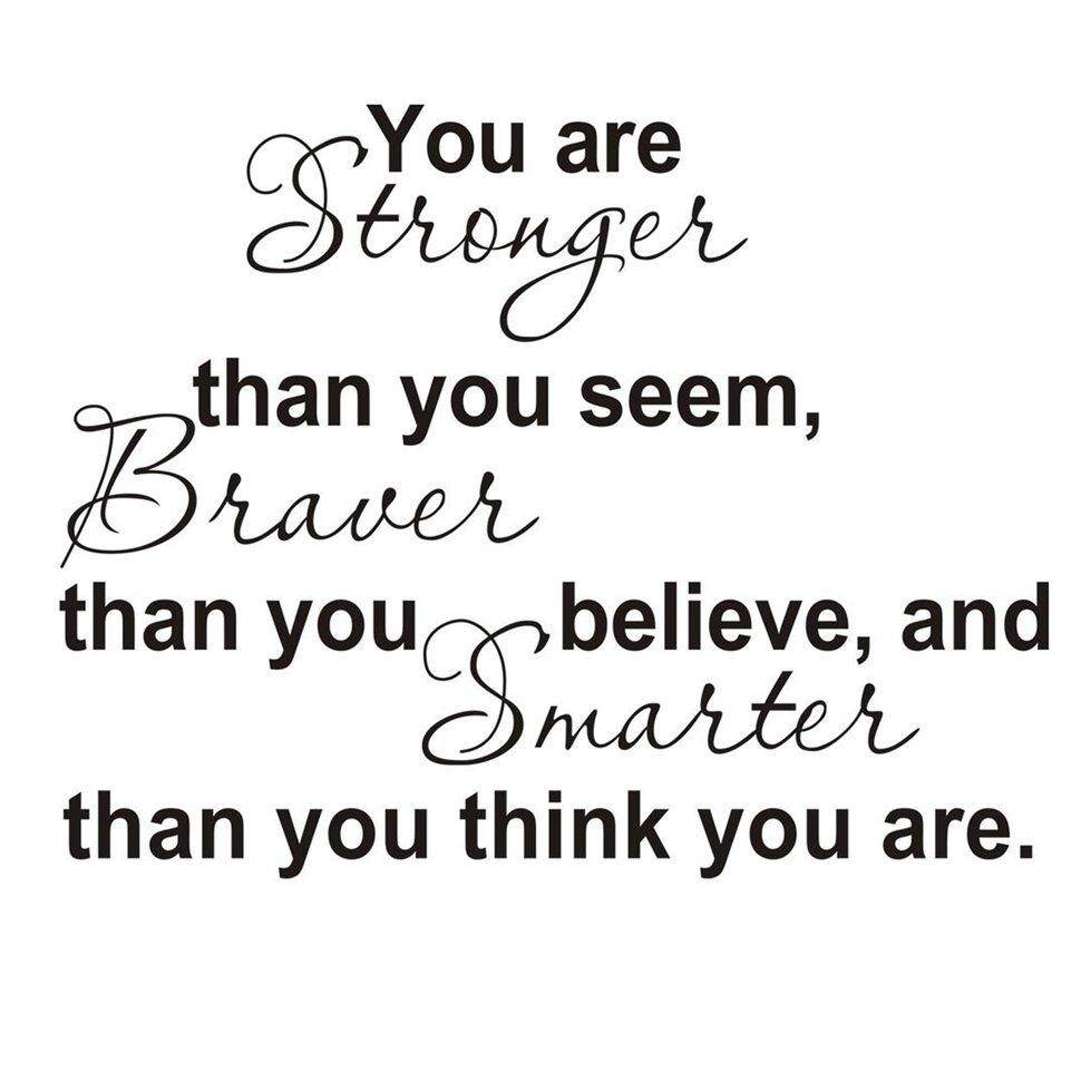 BGD New English You Are Stronger Living Room Bedroom Wall Sticker 8061