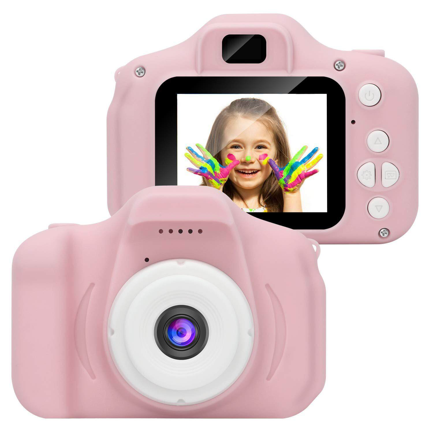 SS Kids Digital Video Camera Mini Rechargeable Children Camera Shockproof  8MP HD Toddler Cameras Child Camcorder