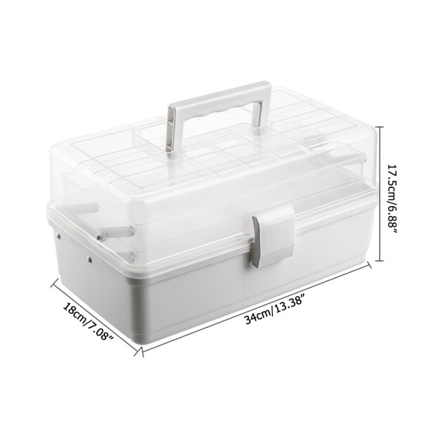 Lifly Household Multi-Layer First Aid Kit Storage Organizer Medicine Cabinet Medicine Container Box