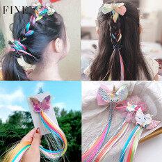 Tóc kẹp đầy màu sắc unicorn dành cho bé gái thích hợp thắt tóc cột tóc đuôi ngựa FINE TOO