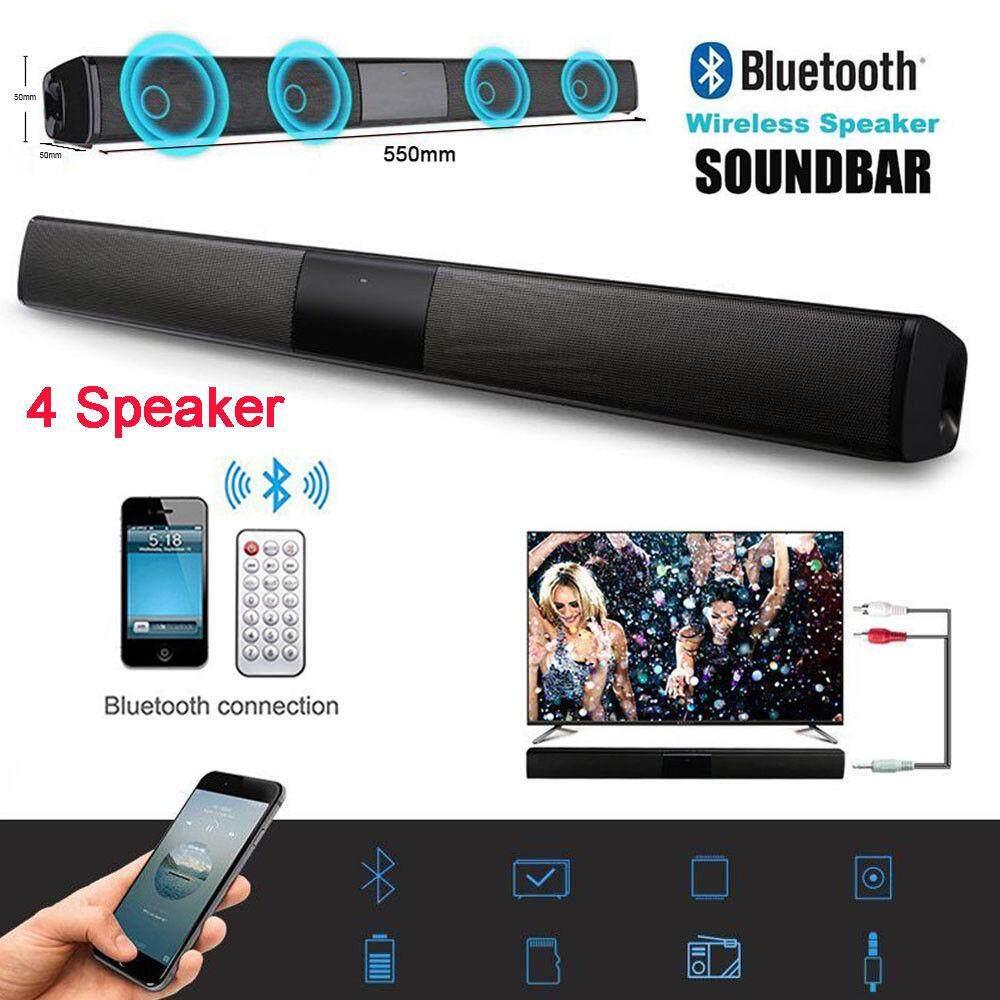 Loa Âm Thanh Bluetooth Không Dây Soundbar Cho TV 4 Loa 3D Thanh Âm Thanh Gia