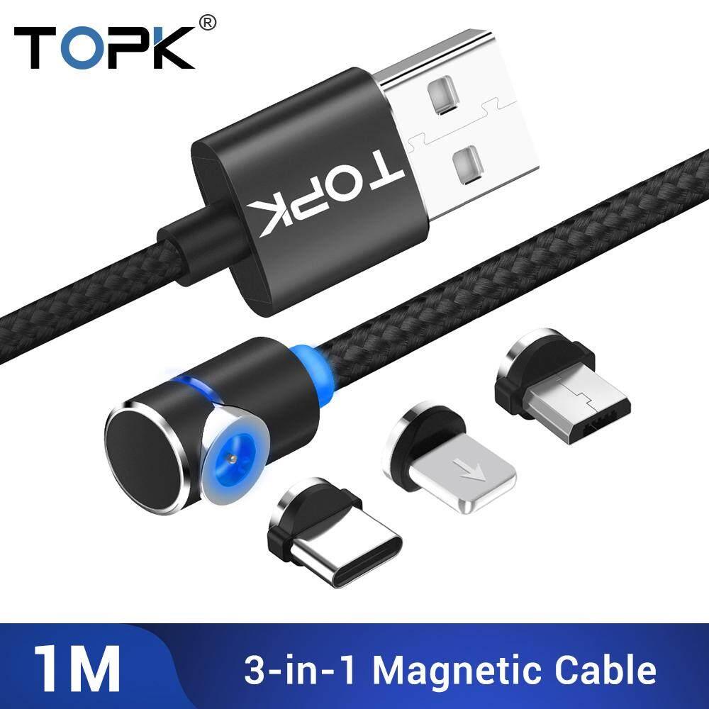 TOPK AM30 Cáp Nam Châm Cáp MicroUSB Type-c 3 Trong 1 Dùng Cho Huawei, Samsung, Iphone Giá Sốc Không Thể Bỏ Qua