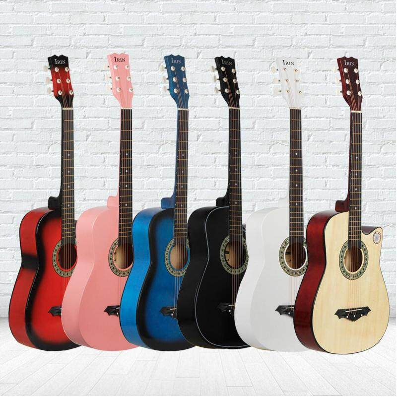 【Free Shipping + Super Deal + Limited Offer】IRIN 38 inch Beginners Acoustic Guitar Wood Strap Tuner Pick Steel String Kids Malaysia