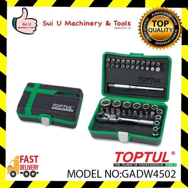 Toptul GADW4502 45pcs 1/4 DR. Mini Ratchet Socket & Bit Set
