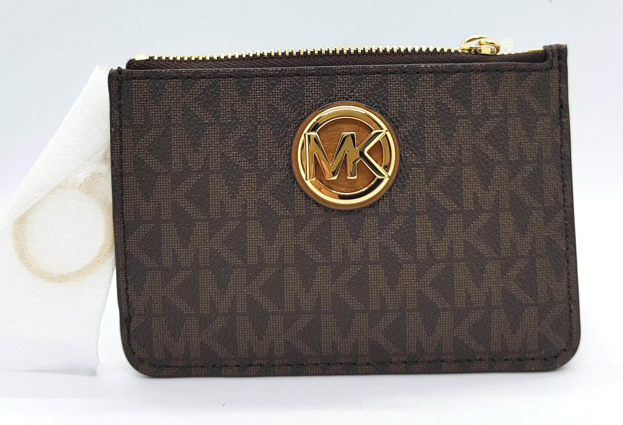 f4bcfb7517e77 Michael Kors Fulton Small TZ Coinpouch with ID Window