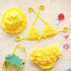 SFhappyStore Kids Cho Bé Bơi Bikini Xù Đồ Bơi Đồ Bơi Áo Tắm