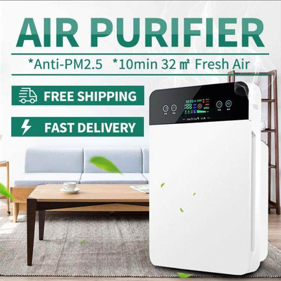 【free Shipping+super Deal+limited Offer】hepa Air Purifier Anti-Pm2.5 Portable Remote Control Air Purifier Cleaner Timer Hepa Dust Allergies Odor 2019new By Warmroom.