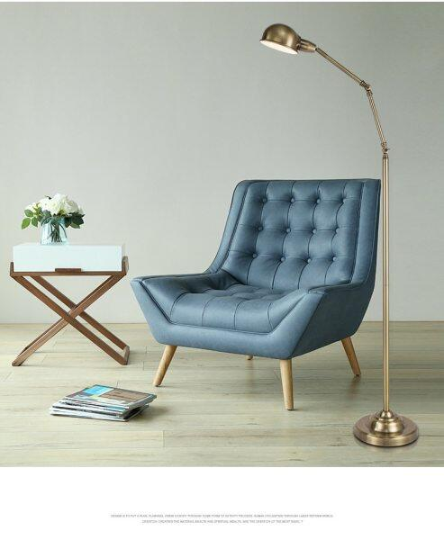 Copper Colored Floor Lamp Scandinavian Modern American Style Creative Vertical Lamp Floor Lamp Reading Room Reading Lamp