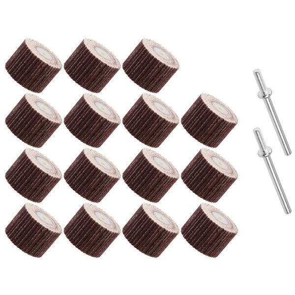 20Pcs Flap Sanding Wheels 120 Grit Flap Wheel Head Disc with 2 of 1/8 Inch Mandrel Polishing Rotary Tool