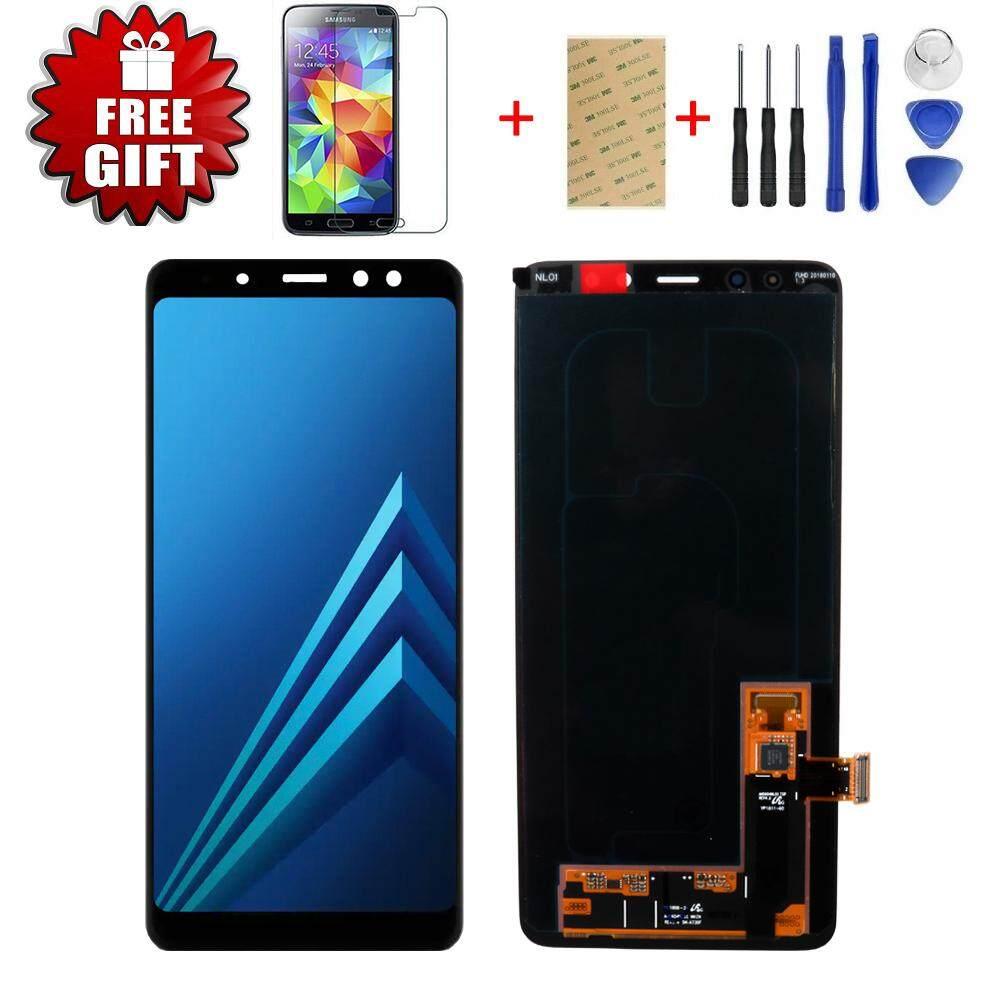 100% Asli Layar AMOLED LCD untuk Samsung Galaxy A8 Plus 2018 A730 Layar LCD Layar Sentuh Pergantian Digital