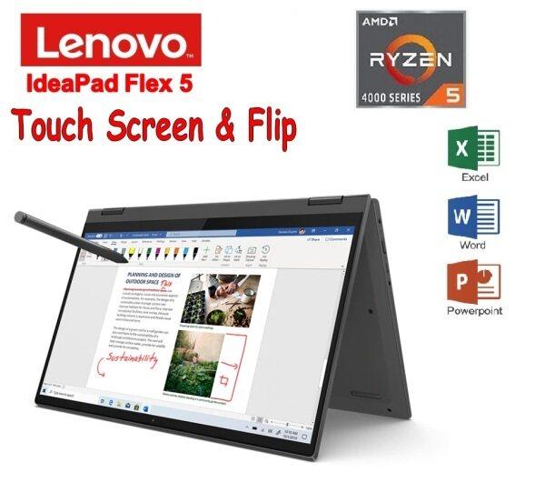 Lenovo IdeaPad FLEX 5-4LMJ 14 FHD Touch Laptop Grey (Ryzen 5 4500U, 8GB, 512GB, ATI, HS W10) Malaysia