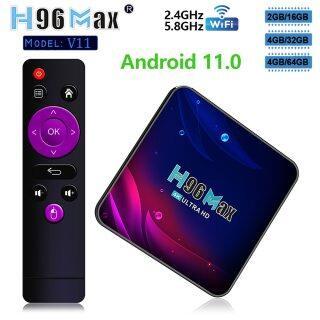 WECHIP Hộp Tv Thông Minh Mới 2021, Android 11.0 H96 Max V11 RK3318 Android TVBOX 4K 4GB 32GB 64GB 5.8G Wifi H96max Bộ Trình Phát Đa Phương Tiện Hộp Trên Cùng thumbnail