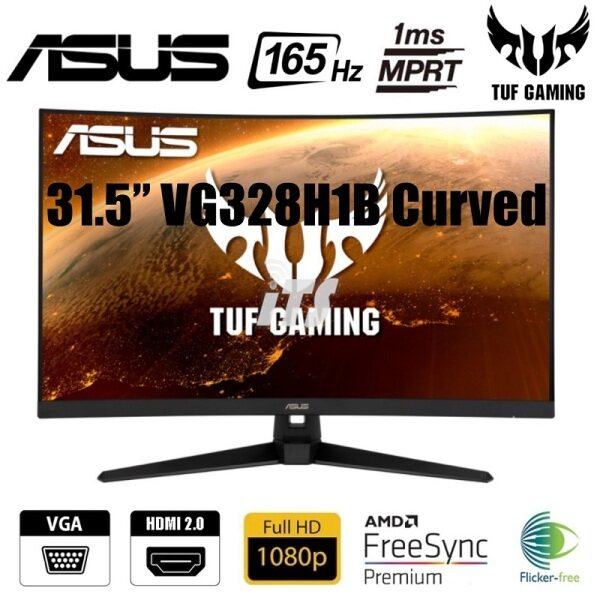 Asus 31.5 TUF Gaming VG328H1B 165Hz 1ms Curved Monitor (FreeSync Premium) Malaysia