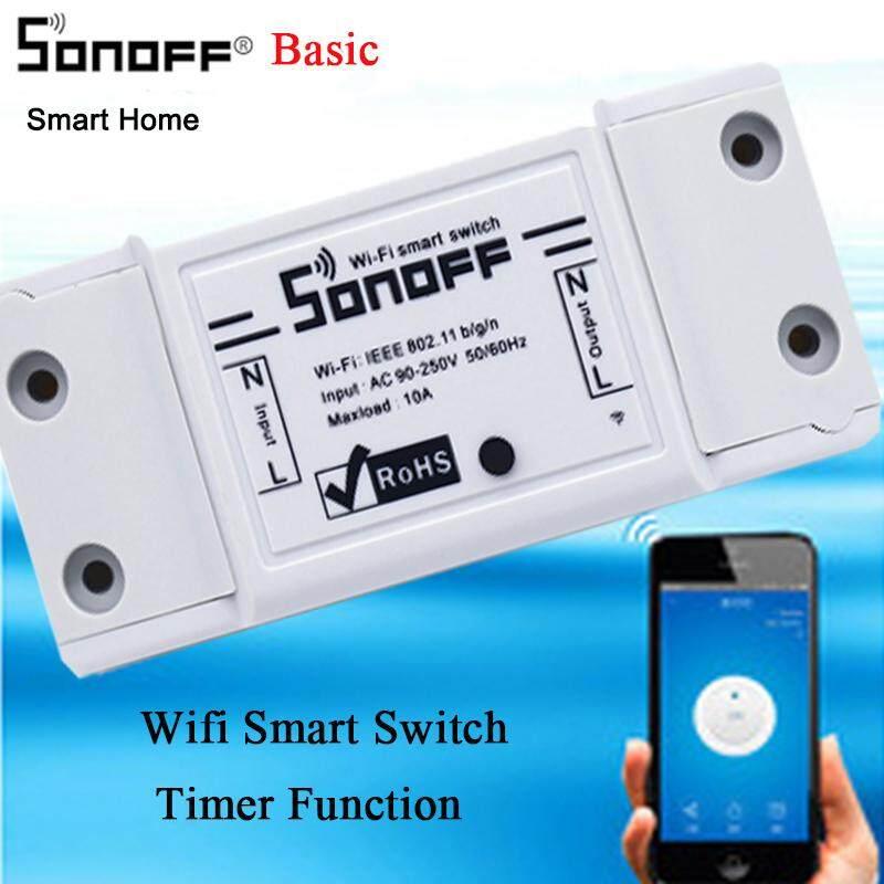 Sonoff Cơ Bản WiFi Không Dây Công Tắc Điều Khiển từ xa Nhà Thông Minh Mô Đun Vỏ ABS Điện Nhà DIY Dành Cho Nhà Thông Minh Tự Động Hóa thông qua EweLink làm việc với Google Nhà và Alexa