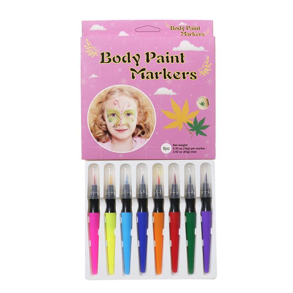 Mua BolehDeals 8 Màu Không độc hại Mặt & Body Paint Marker Tranh Lạ Mắt Bên Halloween