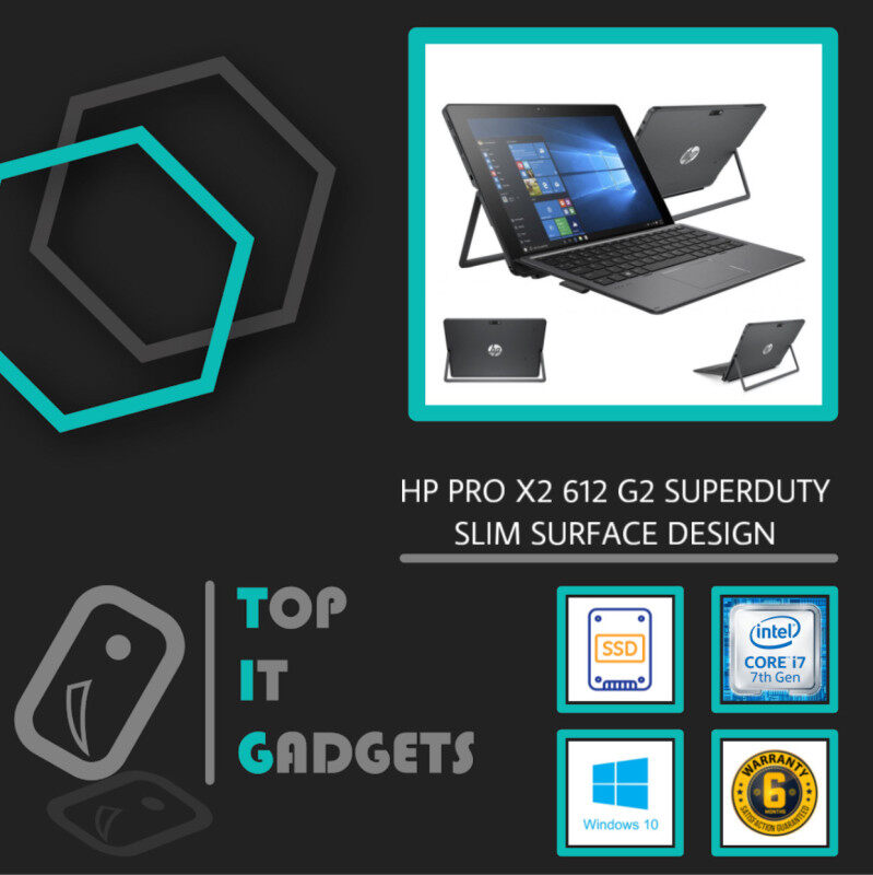 HP ELITE PRO X2 612 G2  SUPERDUTY SURFACE FHD IPS TOUCHSCREEN 4G-LTE [ INTEL CORE I7 7TH GENERATION KABYLAKE  / 8GB RAM / 512GB SSD STORAGE / DETACHABLE SURFACE DESIGN / 6 MONTHS WARRANTY / LAPTOP / TABLET PC ] Malaysia